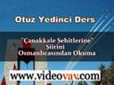 Osmanlıca Dersleri 37
