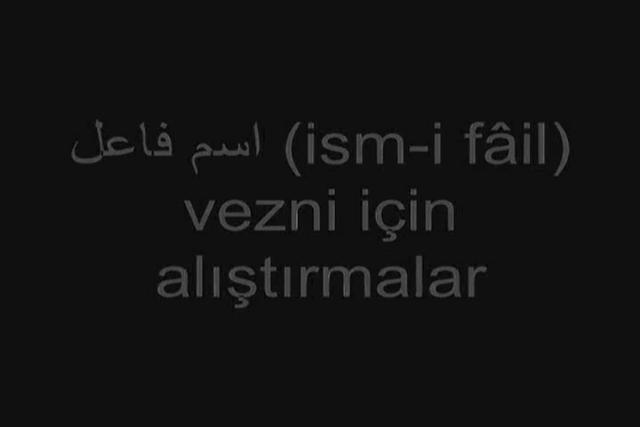 Osmanlıca Dersleri 61